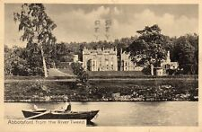 Abbotsford from the River Tweed - Original 1923 Postcard by J Clapperton (400SH)