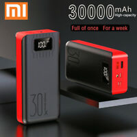 30000mAh Powerbank External Battery Portable Fast Charger Double USB Waterproof