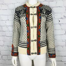 Dale Of Norway Women's Sweater Cardigan 40 Multi Color Nordic Hook Close