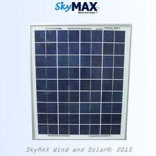 10 Watt 12 volt Solar Panel Poly 15W Max RV Offgrid Battery Charging Boat Dock