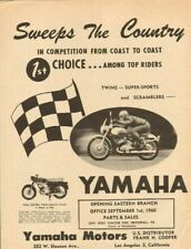 1960 Vintage Yamaha Sweeps The Country 11'' x 14'' Matted Motorcycle Ad Art