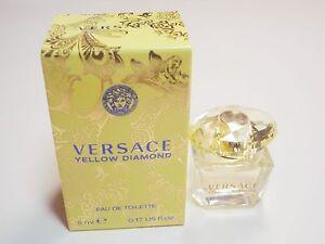 Versace Yellow Diamond Eau de Toilette 5ml mini size new in box