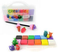 Creatibles colorido eraser/rubber kit de elaboración-Fun hágalo usted mismo-Construcción-Bake-borrar