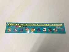 Bubble Bobble Taito Instruction Moves NOS Arcade CPO Control Panel Sticker