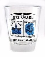 DELAWARE STATE SCENERY BLUE NEW SHOT GLASS SHOTGLASS