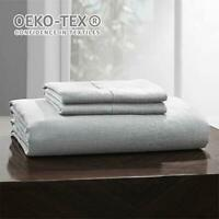 Simple&Opulence 100% Linen Sheet Set Handmade Hemstitch White Twin Bedding Set