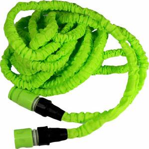 B-Ware 15 m Flexibler Gartenschlauch Wasserschlauch Dehnbarer Flexischlauch Grün