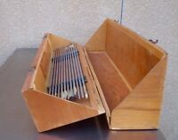 Vintage 1950's Wooden and Aluminum Arrow Archery Set in Wood Case