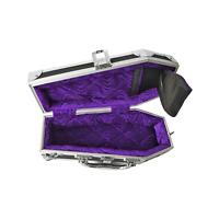 Coffin Case Dark Line Series DL-77R Accessories Case Purple Velvet