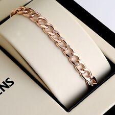 """18K Rose Gold Filled Men's/Women's Cool Bracelet 8.2"""" Chain 7mm Link GF Jewelry"""