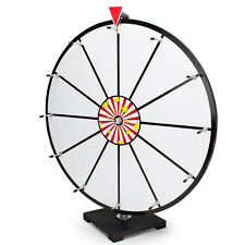"24"" White Dry Erase Prize Wheel Table Top Carnival"