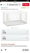 Iris white puppy pen with removable roof