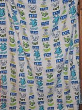 DISNEY SULLEY FLAT CRIB SHEE/WHITE and MULTI COLOR PRINT/POLYESTER MICROFIBER