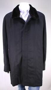 New! Zilli $23K Black Cashmere w/ Mink-Weasel Lined 3/4 Length Coat US 48