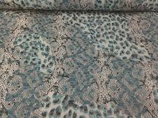 coupon de tissu  PUR coton satin de coton elastan animal    : 3.00 m ; Ref  5