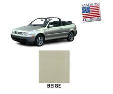 VW Volkswagen Golf Cabrio Cabriolet 1995-2001 Convertible Soft Top BEIGE Vinyl
