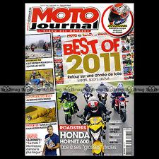 MOTO JOURNAL N°1982 CLOONEY YAMAHA FZ8 KTM 690 DUKE SUZUKI GSR 750 LAGRIVE 2011