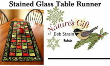 STAINED GLASS TABLE RUNNER Quilt Kit - PRECUT !!   Moda fabric plus pattern.
