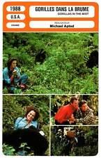 FICHE CINEMA : GORILLES DANS LA BRUME - S.Weaver 1988 Gorillas In The Mist