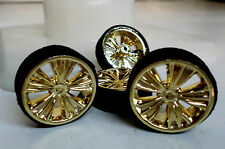 Hoppin Hydros 1/24 1/25 MONSTER 24s GOLD Wheels Rims Tires VENETIANS Model Car