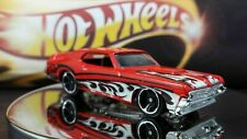 Hot Wheels '69 Mercury Cougar Eliminator Mattel Red Black Silver Scale  Flames