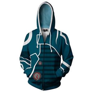 Game Fire Emblem Print Sweater Zipper Hoodie Casual Sweatshirt Boys Jacket Coat