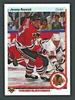 1990-91 UPPER DECK JEREMY ROENICK BLACKHAWKS ROOKIE CARD #63 MINT