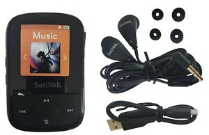SanDisk Clip Sport Plus 16GB MP3 Player FM Radio Bluetooth Water-Resistant Black