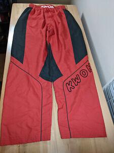 Kwon Combat Karate Pants Martial Arts Training Taekwondo Red / Black 27x33