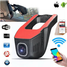 Dual Wifi Dash Front Rear cam HD 1080p Lens Car Hidden Camera DVR Android Apple