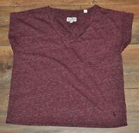 Jack Wills Casual Top Blouse T- Shirt Ladies UK 8 Short Sleeve Cotton Blend