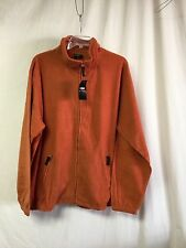 NWT Big Men's Large & In Charge Polar Fleece Zip Up Jacket Size 3XL Rust #768Z