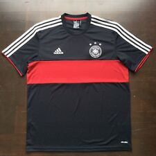 Adidas Climalite German National Soccer Team Jersey Black Mens Large