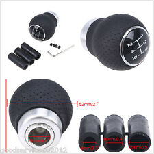 Black Leather 5Speed Manual Vehicle Interior Gear Shift Knob Shifter Lever Cover