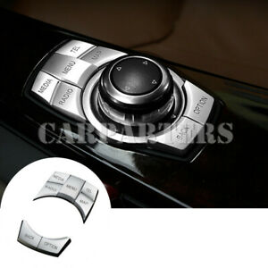 For BMW X3 F25 Inner Console iDrive Multimedia Button Trim Cover 5pcs 2011-2013