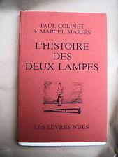 """Paul COLINET & Marcel MARIËN  """"Histoire des deux lampes"""" /  E.O. Num.12/15 exs !"""
