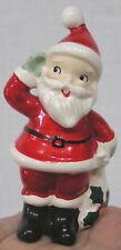 Vintage Christmas Lefton Santa Claus Shaker w Stopper 1950s