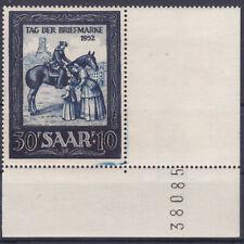 1952 Tag der Briefmarke Eckrand mit Druckfehler Postfrisch ** MNH