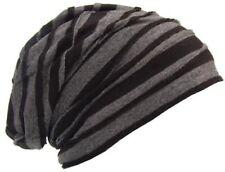 Cool4 Vintage Winter Fleece 2-Farben Stripes Beanie Schwarz Anthrazit VWB15