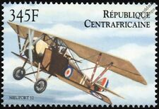 WWI Nieuport 12 French Sesquiplane Aircraft Stamp 2000 Central African Republic