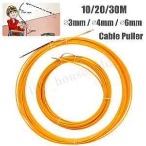3/4/6mm 10/20/30m Draht Kabel Fiberglas Rod Reel Einziehspirale Einziehband