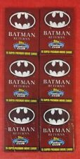 Vintage 1991 Batman Returns Topps Stadium Club 6 Pack Lot