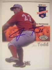 JESS TODD signed CARDINALS 2008 TriStar baseball card AUTO ARKANSAS RAZORBACKS