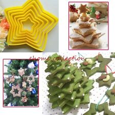 Stars Shape 6pcs DIY Cake Backing Decorating Tool Xmas Cookie Cutters Mold