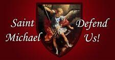 Saint Michael on Shield  - Decal -  Free shipping
