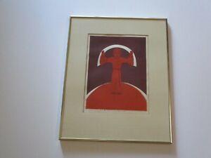 BENIAMINO BUFANO LITHOGRAPH SAINT RARE POP  SIGNED 1970 RARE ITALIAN MODERNIST