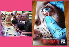 THE STRAIN sdcc 2014 FX Exclusive signed Poster GUILLERMA DEL TORO COREY BRADLEY