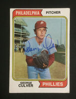 George Culver Phillies signed 1974 Topps baseball card #632 Auto Autograph
