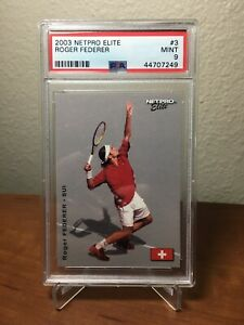 2003 Netpro Elite Roger Federer Rookie RC (#3) /2000 PSA 9 MINT