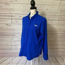 Columbia Sportswear Women's Vented Long Sleeve Button Fishing Hiking Shirt Sz L